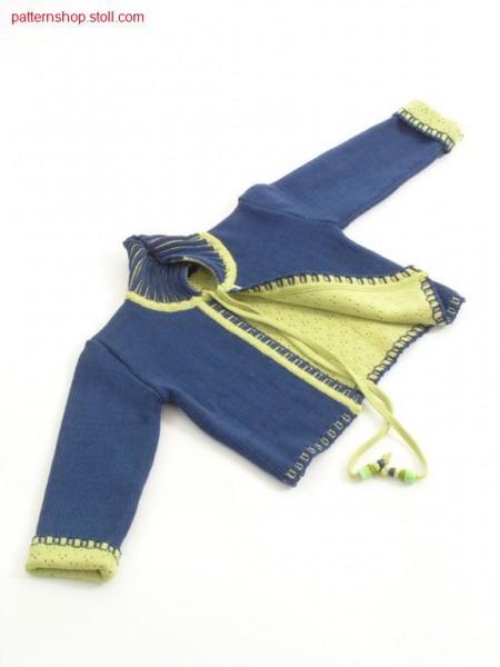 2-layers children's cardigan / 2-lagige Kinderstrickjacke