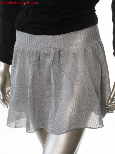 Jersey mini skirt with by fair isle gathered pleats / Rechts-Links Minirock mit durch Fair Isle gerafften Falten