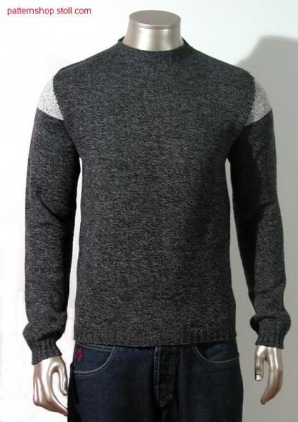 Two colour men pullover / Zweifarbiger Herren-Pullover