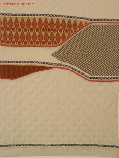 Split pattern with ornamental stitch stripes and waves / Splitmuster mit Zierstichringel und Wellen
