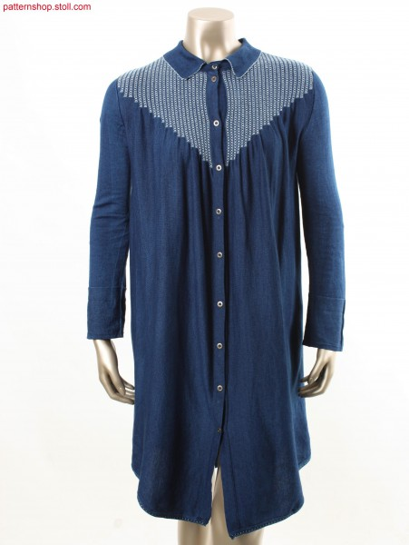 Fully Fashion jersey shirt dress / Fully Fashion Rechts-Links Hemdblusenkleid
