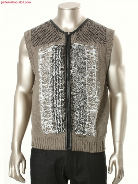 Fully Fashion jersey waistcoat / Fully Fashion Rechts-Links Weste