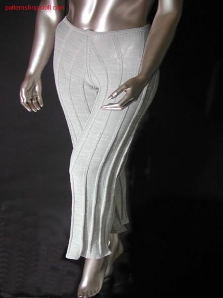 Trouser with rib and linked off waist / Hose mit Rippstruktur und abgeketteltem Bund
