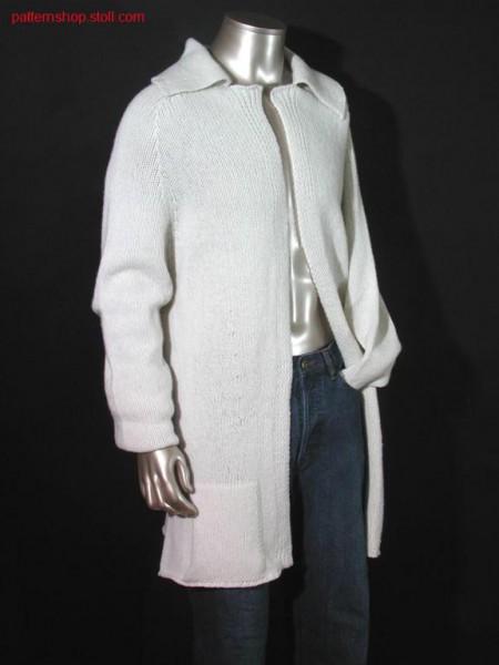 Fitted jersey cardigan with patch pockets / Taillierte Rechts-Links Strickjacke mit aufgesetzten Taschen