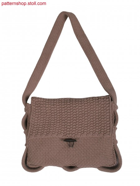 woven textured bag in aran and ricegrain structure, with side slits
