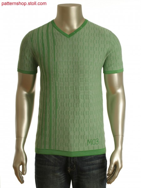 Fully Fashion 2-color jacquard T-shirt