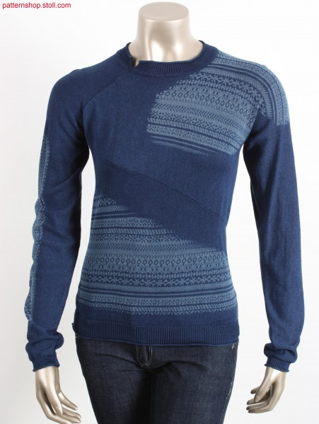 Plated Fully Fashion jersey pullover / Plattierter Rechts-Links Fully Fashion Pullover