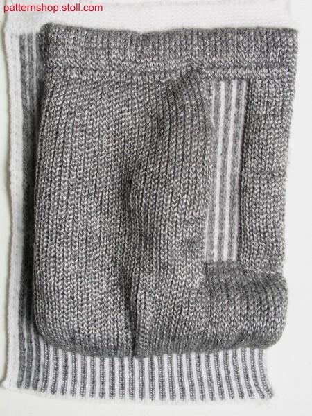 Swatch with side slit pockets / Musterteil mit seitlicher Schubtasche