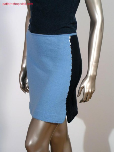 Jersey skirt with tubular start / Rechts-Links Rock mit Schlauchanfang