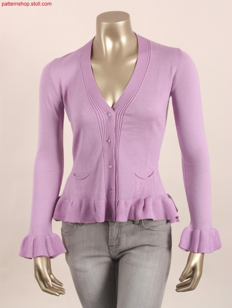Fitted Fully Fashion cardigan with French shoulder / Taillierte Fully Fashion Jacke mit franz