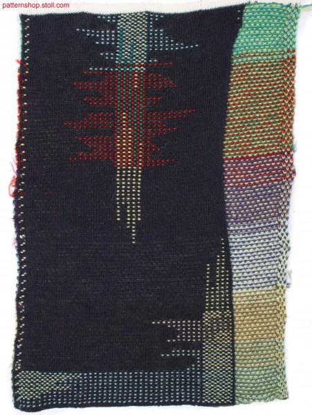 2-layer swatch with multicolour stripe structure / 2-lagiger Musterausschnitt mit mehrfarbigem Streifenmotiv