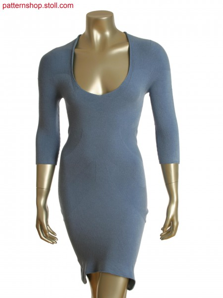 Stoll-knit and wear&reg dress with partial front reverse jersey and alternate knitting