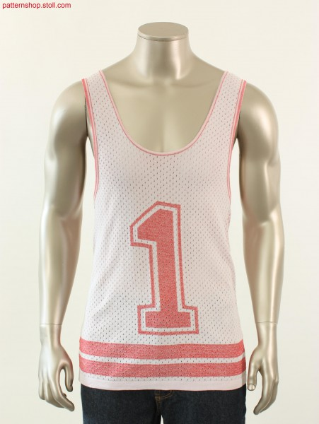 Inverse plated Fully Fashion baseball top / Inverse platedFully Fashion baseball top with pointelle structure.
