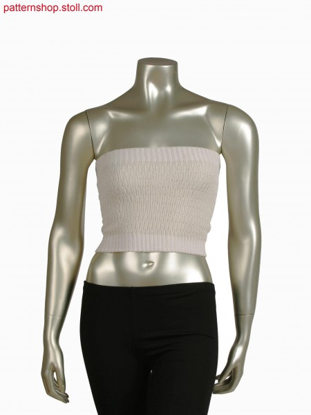 Stoll-knit and wear&reg top, 2x2 rib with cable structure