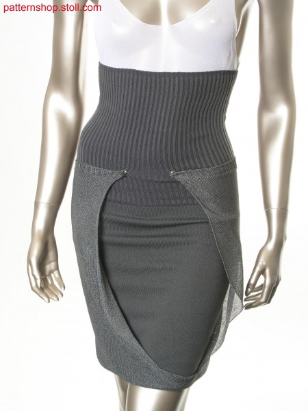 Jersey skirt in layering look / Rechts-Links Rock im Lagen-Look