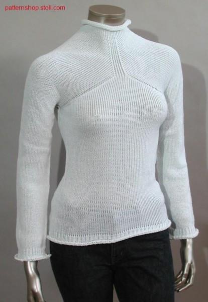 Pullover with set in sleeves / Pullover mit eingesetzten