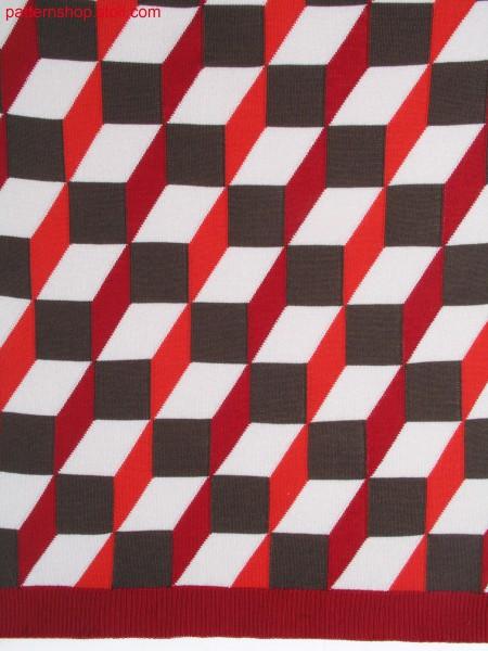 Intarsia pattern in 3d op-art / Intarsiamuster in 3D Op-Art