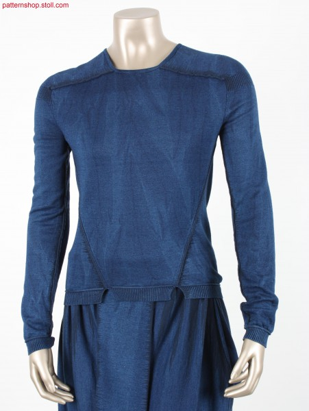 Plated Fully Fashion jersey pullover / Plattierter Fully Fashion Rechts-Links Pullover