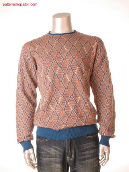 Diamond-patterned Fully Fashion pullover / RautengemusterterFully Fashion Pullover