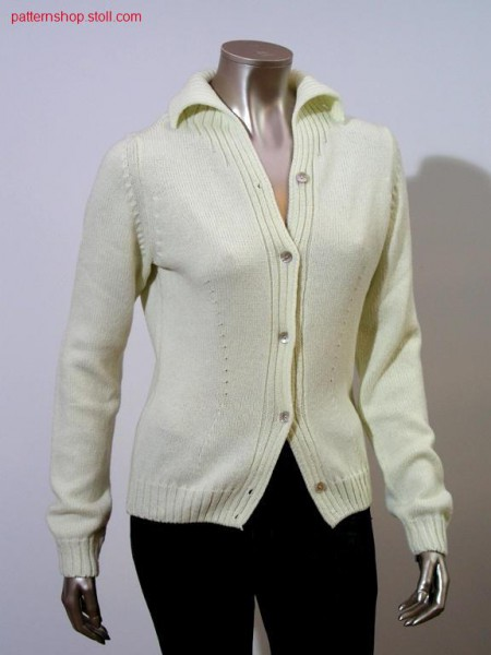 Fitted FF-jersey cardigan / Taillierte FF-Rechts-Links Strickjacke