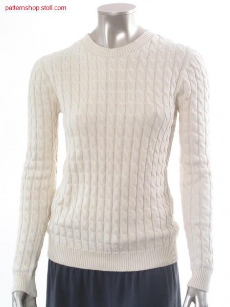 Pullover with 2x3 cables, french shoulder / Pullover mit 2x3Z