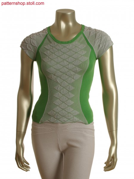 Fully Fashion 2-color top with partial layer