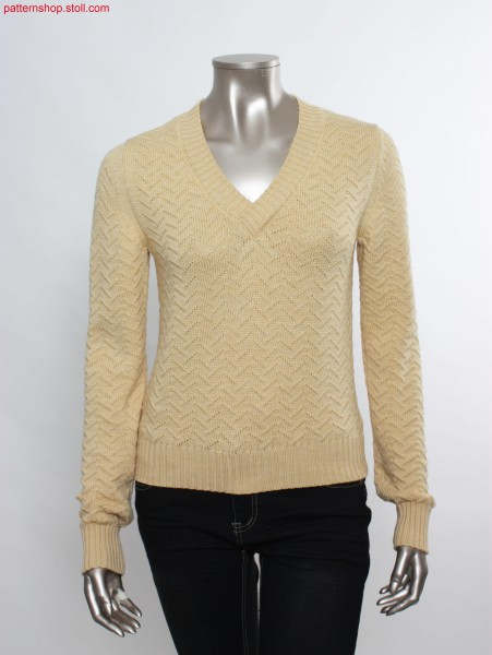 Fully Fashion pullover with Transfer structure / Fully Fashion Pullover mit Umh