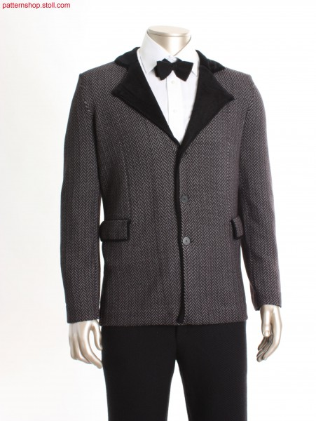 Fully Fashion blazer with herringbone pattern / Fully Fashion Blazer mit Fischgratmuster
