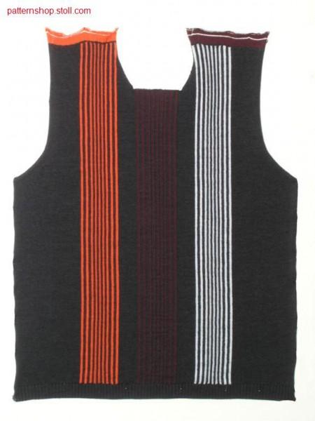 FF-Intarsia front with round neck / FF-Intarsia Vorderteil mit Rundhals Ausschnitt