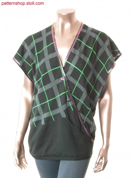 Fully Fashion-intarsia wrap-over top with pocket / Fully Fashion-Intarsia Wickeltop mit Tasche