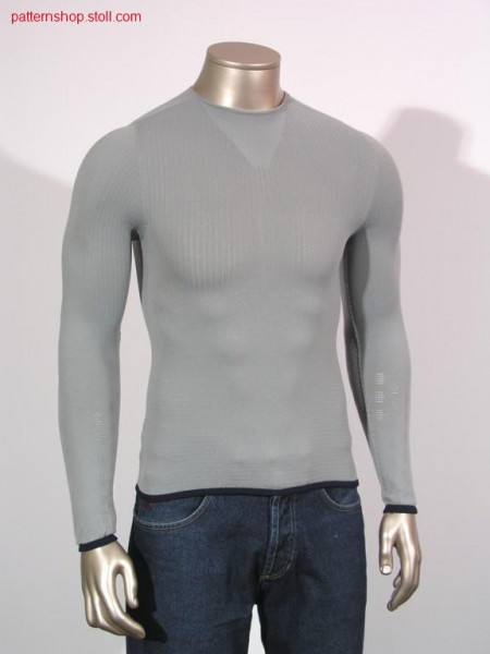 Long-sleeved top knitted with all needles / Lang-Arm Pullovermit allen Nadeln gestrickt