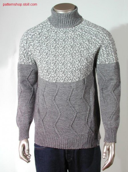Fair isle pullover with aran / Fair Isle Pullover mit Aran