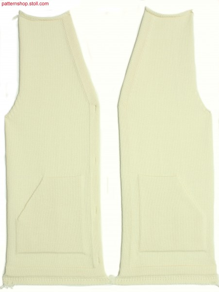 Fully Fashion waistcoat front / Fully Fashion Westen-Vorderteil