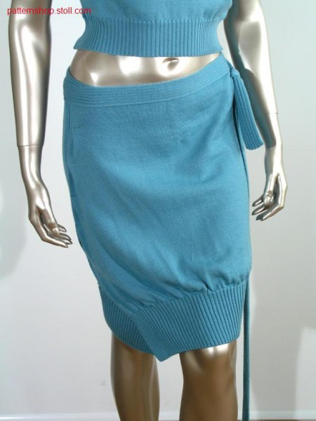 Fully fashion jersey wrap skirt with pleats at the side / Fully Fashion Rechts-Links Wickelrock mit seitlichen Falten