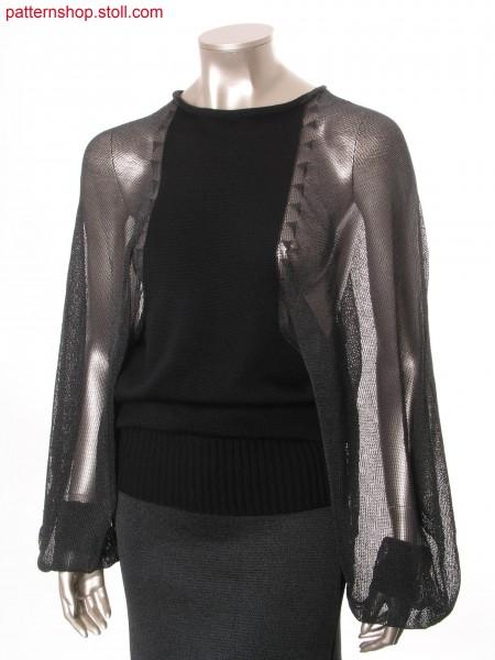 Intarsia pullover with near the neck inserted mutton sleeves/ Intarsia Pullover mit halsnah eingesetzten Keulen