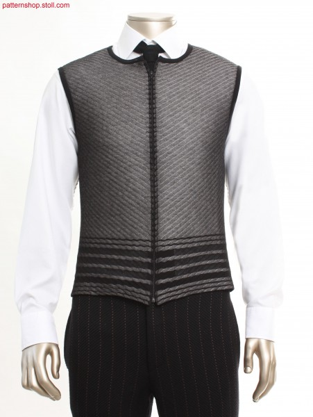 Fully Fashion waistcoat with French shoulder / Fully Fashion Weste mit franz
