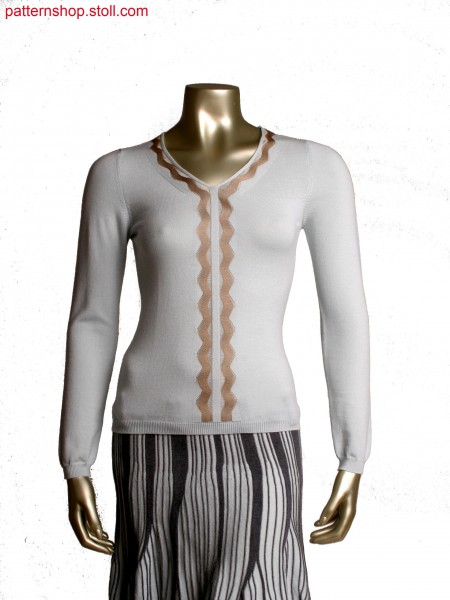 Fully Fashion pullover, intarsia as layered floating effect