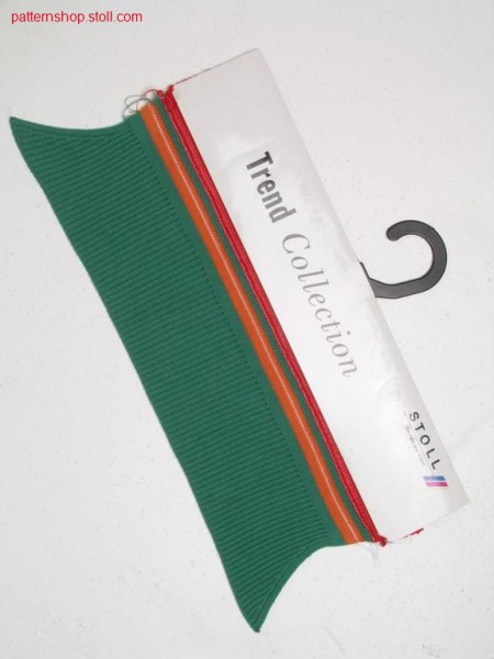 FF collar in 2x1 rib, narrowing in 2x2 rib / FF Kragen in 2x1 Rippe, Minderung in 2x2 Rippe