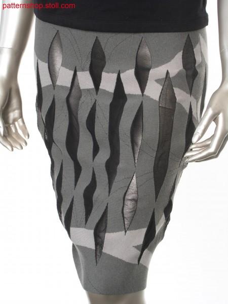 Reversible skirt with intarsia-gore technique / Wenderock mit Intarsia-, Spickeltechnik