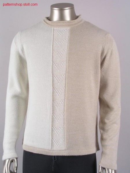 FF-intarsia pullover with float jacquard / FF-Intarsia Pullover mit Flottjacquard