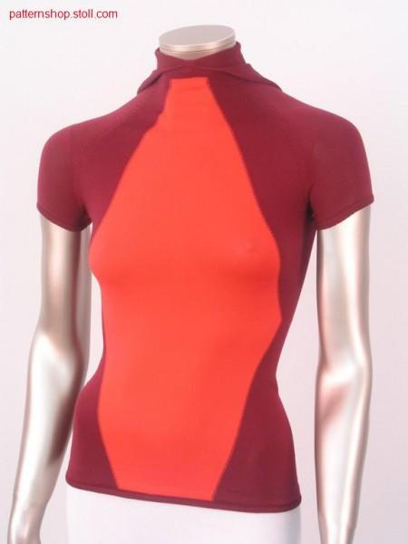 Intarsia short-sleeve raglan pullover / Intarsia kurzarm Raglanpullover