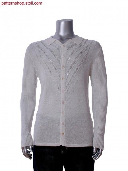 Fully Fashion shirt with pointelle structure and aran