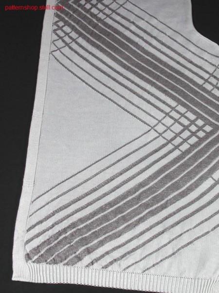 FF-Intarsia cardigan front in jersey / FF-Intarsia Strickjackenvorderteil in Rechts-Links