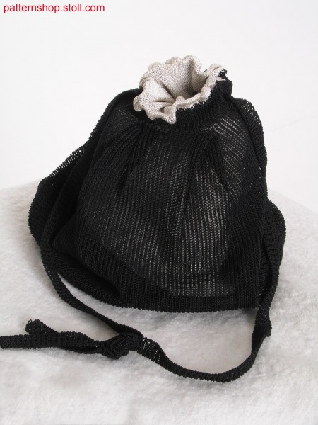 Shoulder pouch with inner lining and drawcord / Umh
