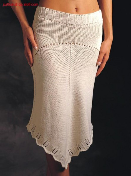 Skirt with petinet hem / Rock mit Petinet- Saum