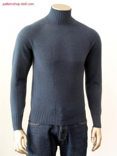 Jersey-Pullover, different gauge optic is narrowed / RL-Pulli, grobe und feine Partien gemindert.