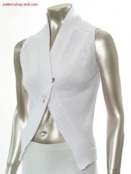 Jersey waistcoat / Rechts-Links Weste