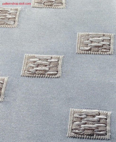 Jersey fabric with Intarsia structure pattern / Rechts-Links Gestrick mit Intarsia-Strukturmuster