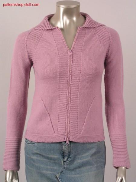 Raglan cardigan with patch pockets / Raglanstrickjacke mit aufgesetzten Taschen