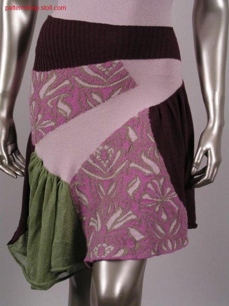 FF-pleated skirt with jacquard-jersey inlays / FF-Faltenrock mit Jacquard-Rechts-Links Intarsia